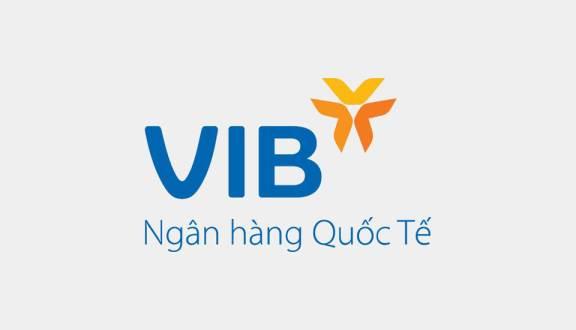 Logo của ngân hàng Quốc tế VIB.