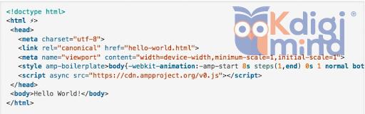 HTML AMP